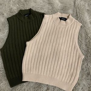 Two forever 21 crop knitted shirts